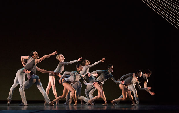 San Francisco Ballet in Thatcher's <I>Ghost in the Machine</I>.<br />© Erik Tomasson. (Click image for larger version)