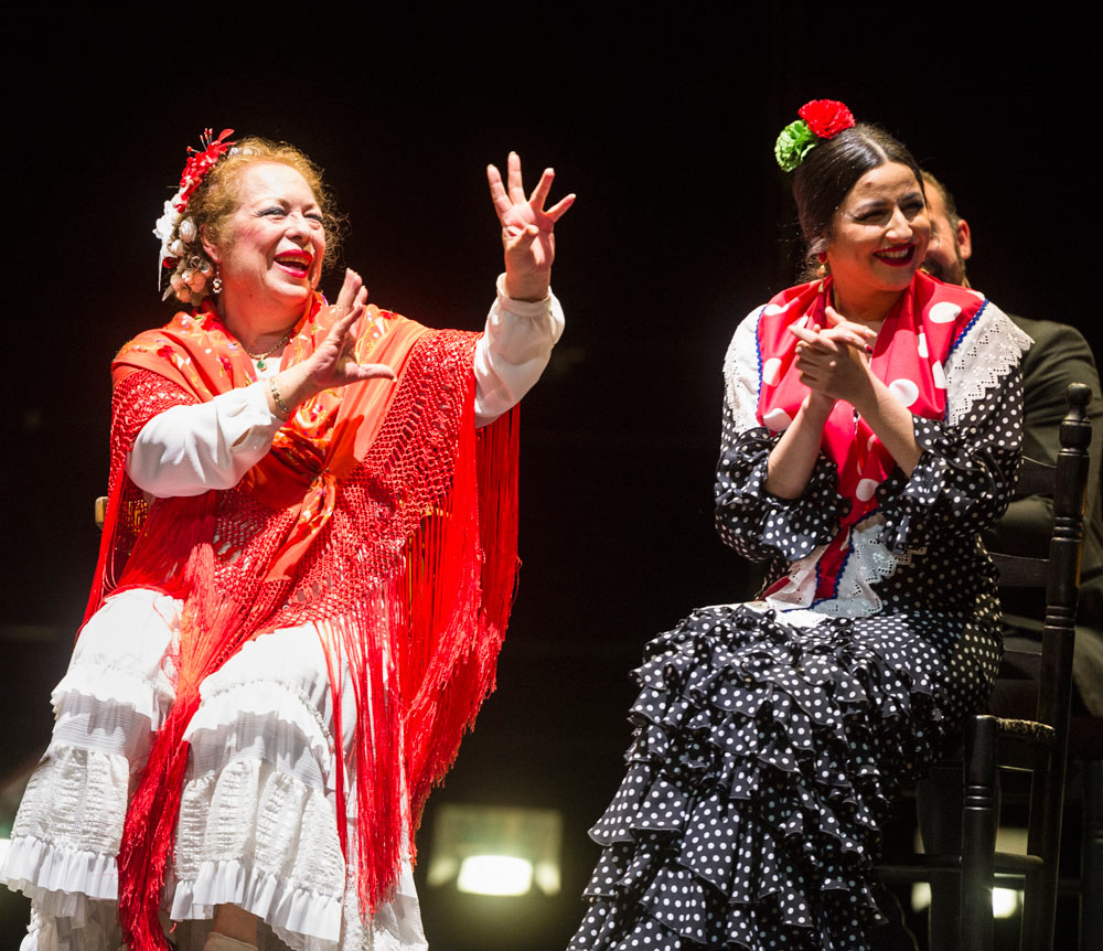 La Chana and Gema Moneo in Goddess of Compás.© Foteini Christofilopoulou. (Click image for larger version)