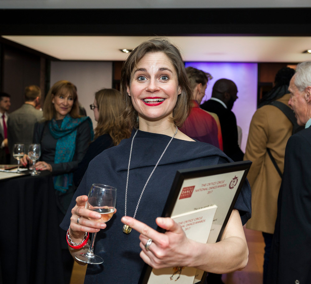 Clemmie Sveaas, nominated in the Outstanding Female Performance (Modern) category for her performances in Arthur Pita & HeadSpaceDance's Stepmother/Stepfather.© Foteini Christofilopoulou. (Click image for larger version)