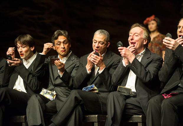 Michael Carter, Eddie Martinez, Fernando Suels Mendoza, Dominique Mercy and Andrey Berezin in <I>Viktor</I>.<br />© Foteini Christofilopoulou. (Click image for larger version)