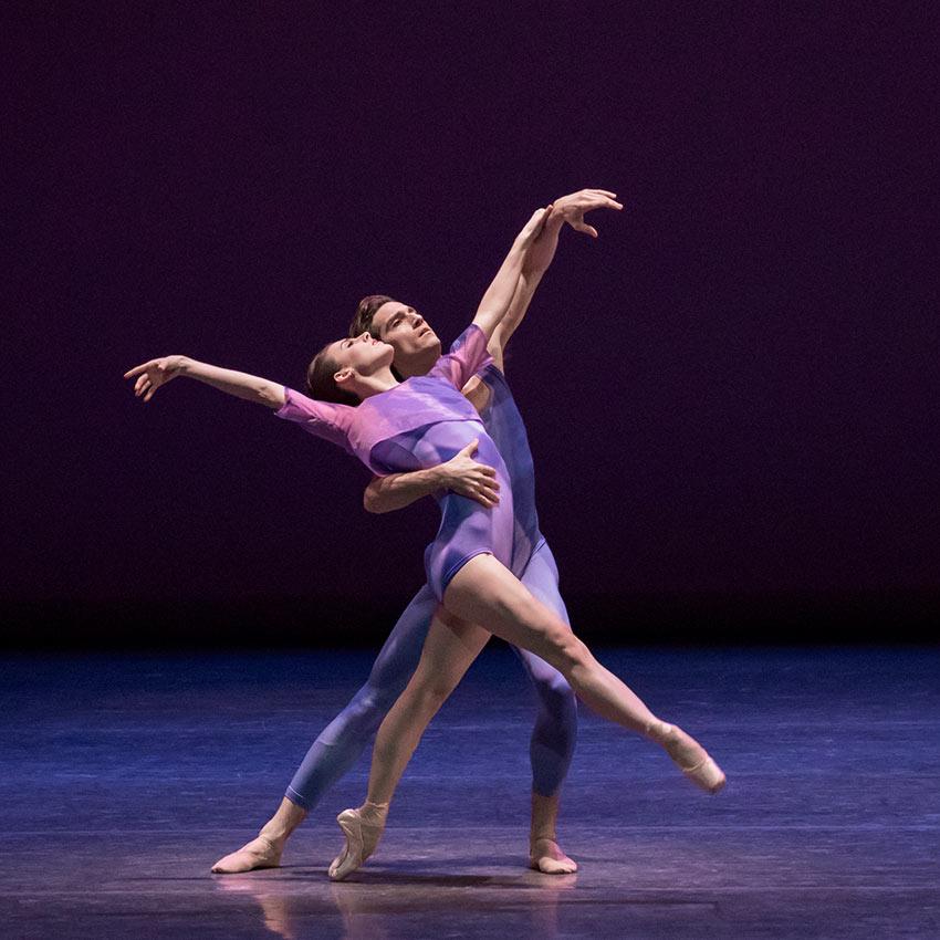 Tiler Peck and Zachary Catazaro in Peter Walker's Dance Odyssey.© Paul Kolnik. (Click image for larger version)