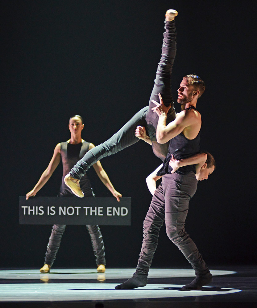 Ballet British Columbia in <I>16+ a room</I>.<br />© Dave Morgan. (Click image for larger version)