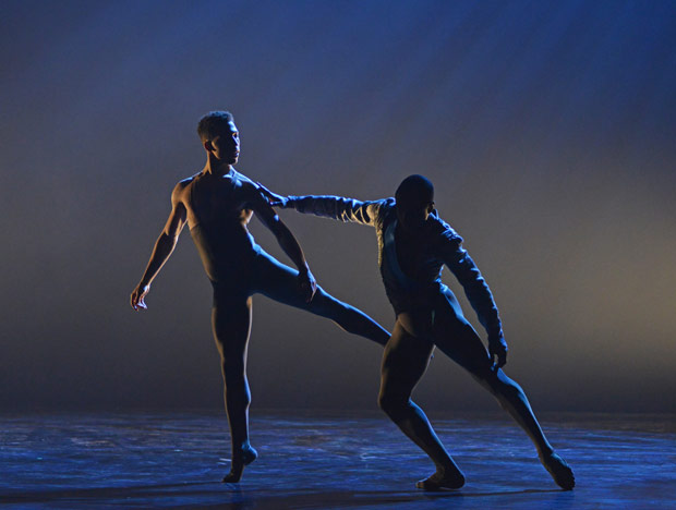 Ebony Thomas and Jose Alves in Arthur Pita's <I>A Dream Within a Midsummer Night's Dream</I>.<br />© Dave Morgan. (Click image for larger version)