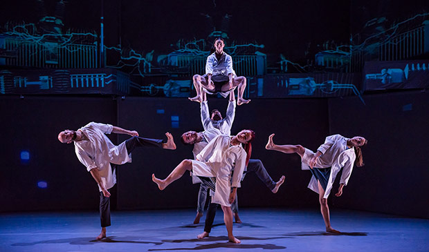Motionhouse in their latest work - Charge, now touring.© Dan Tucker. (Click image for larger version)