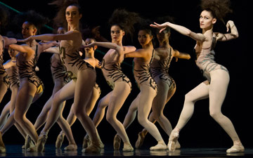 San Francisco Ballet in Robbins' The Cage.© Erik Tomasson. (Click image for larger version)