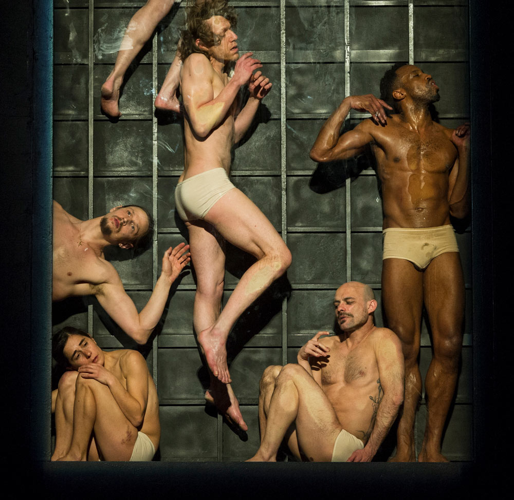 Claudia de Serpa Soares, Pascal Jansson, Luc Dunberry, Clyde Emmanuel Archer and Nicola Mascia in Körper.© Foteini Christofilopoulou. (Click image for larger version)