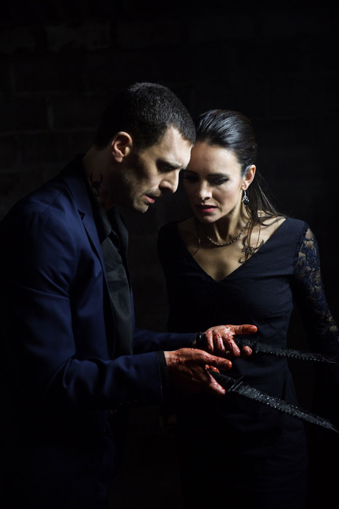 Jonathan Goddard and Eleanor Duval in Macbeth.© Nicole Guarino. (Click image for larger version)