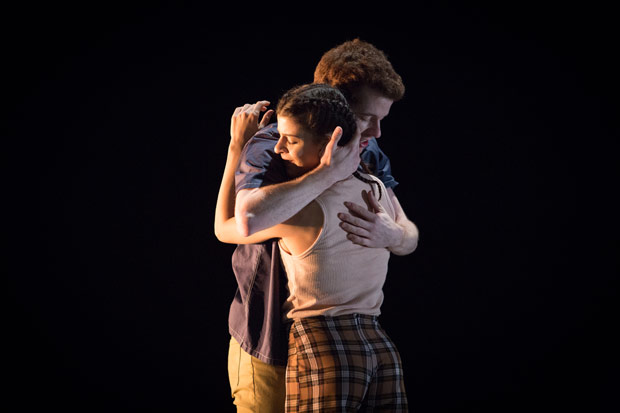 Kevin Emerton and Mayara Magri in <I>Piggy in the Middle</I>.<br />© Alice Pennefather, ROH, 2018. (Click image for larger version)