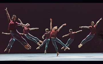 English National Ballet in Forsythe's Playlist (Track 1, 2).© Dave Morgan. (Click image for larger version)