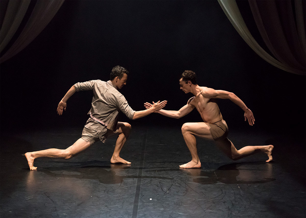 Michael Barnes and Nicholas Tredrea in TORO Beauty and the Bull.© Emma Kauldhar. (Click image for larger version)
