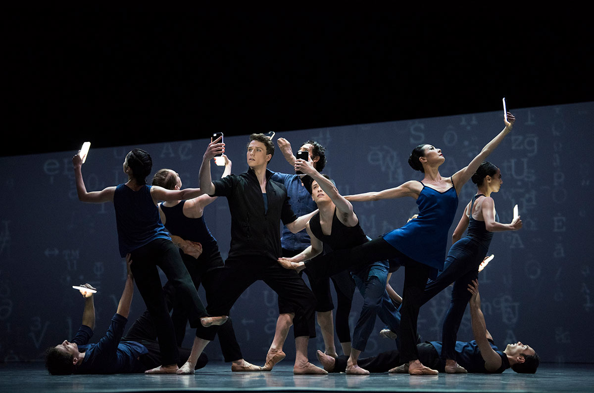 San Francisco Ballet in Wheeldon's Bound To.© Erik Tomasson. (Click image for larger version)