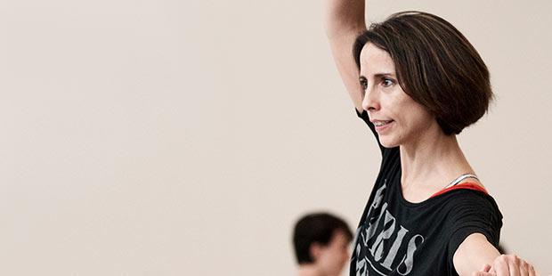 Annabelle Lopez Ochoa rehearsing <I>Guernica</I>.<br />© Erik Tomasson. (Click image for larger version)