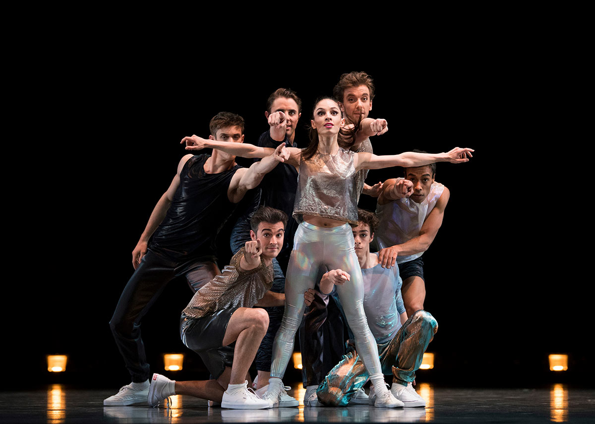 San Francisco Ballet in Peck's Hurry Up, We're Dreaming.© Erik Tomasson. (Click image for larger version)