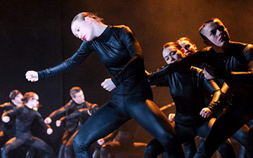 National Youth Dance Company in Sharon Eyal's Used To Be Blonde.© Foteini Christofilopoulou. (Click image for larger version)