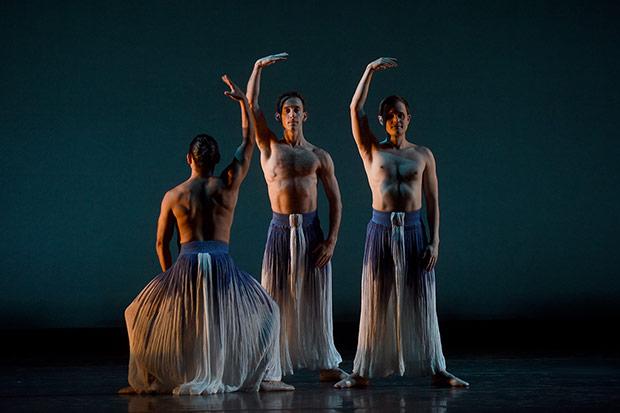 Mark Morris Dance Group in <I>Pacific</I>.<br />© Hilary Schwab. (Click image for larger version)