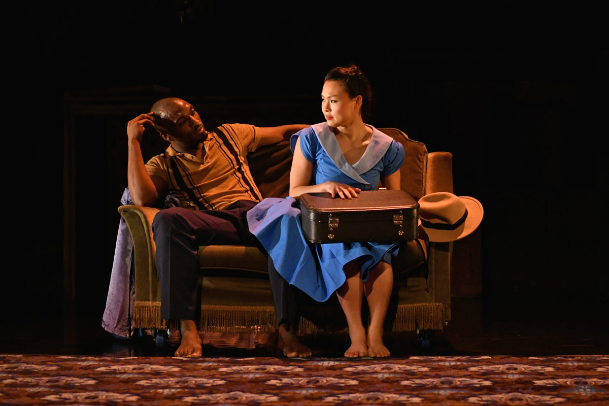 Vanessa Vince-Pang and Prentice Whitlow in Windrush: Movement of the People.© Brian Slater. (Click image for larger version)