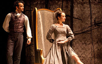 Dreda Blow and Javier Torres in Jane Eyre.© Caroline Holden. (Click image for larger version)
