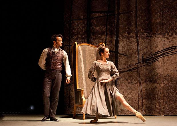 Dreda Blow and Javier Torres in <I>Jane Eyre</I>.<br />© Caroline Holden. (Click image for larger version)