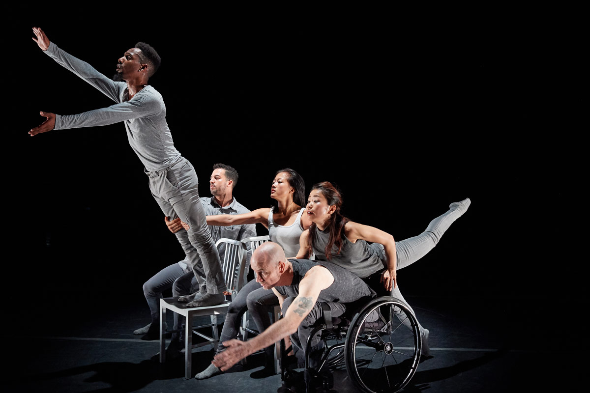 James Bowen, Edisnel Rodriguez, Lani Dickinson, Yuko Monden & Dwayne Scheuneman in Amy Seiwert's The Reflective Surface.© David DeSilva. (Click image for larger version)