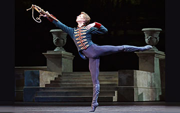 Vadim Muntagirov in Swan Lake.© Dave Morgan, courtesy the Royal Opera House. (Click image for larger version)