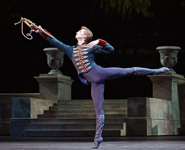 Vadim Muntagirov in <I>Swan Lake</I>.<br />© Dave Morgan, courtesy the Royal Opera House. (Click image for larger version)