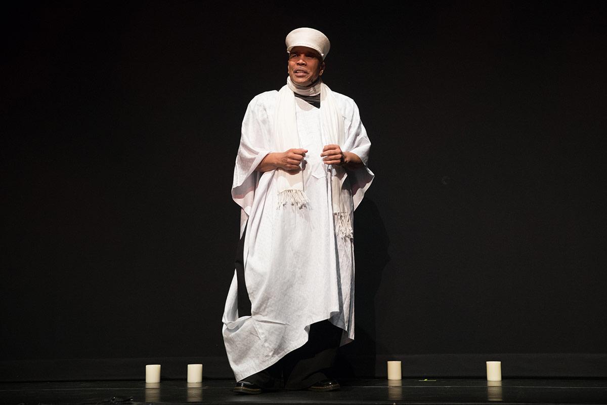 Abdel R. Salaam, DanceAfrica artistic director.© Julieta Cervantes. (Click image for larger version)