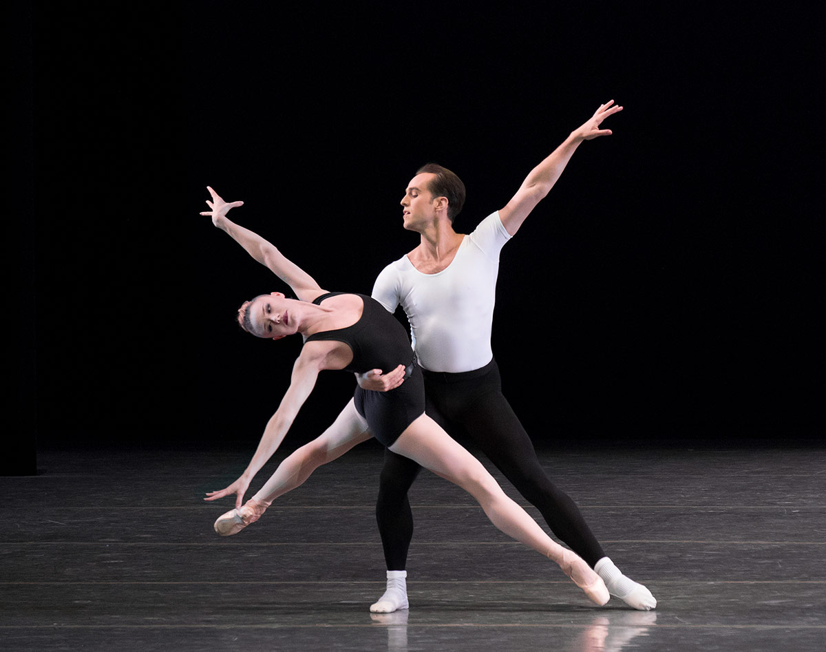 Sara Mearns and Jared Angle in The Four Temperaments.© Paul Kolnik. (Click image for larger version)