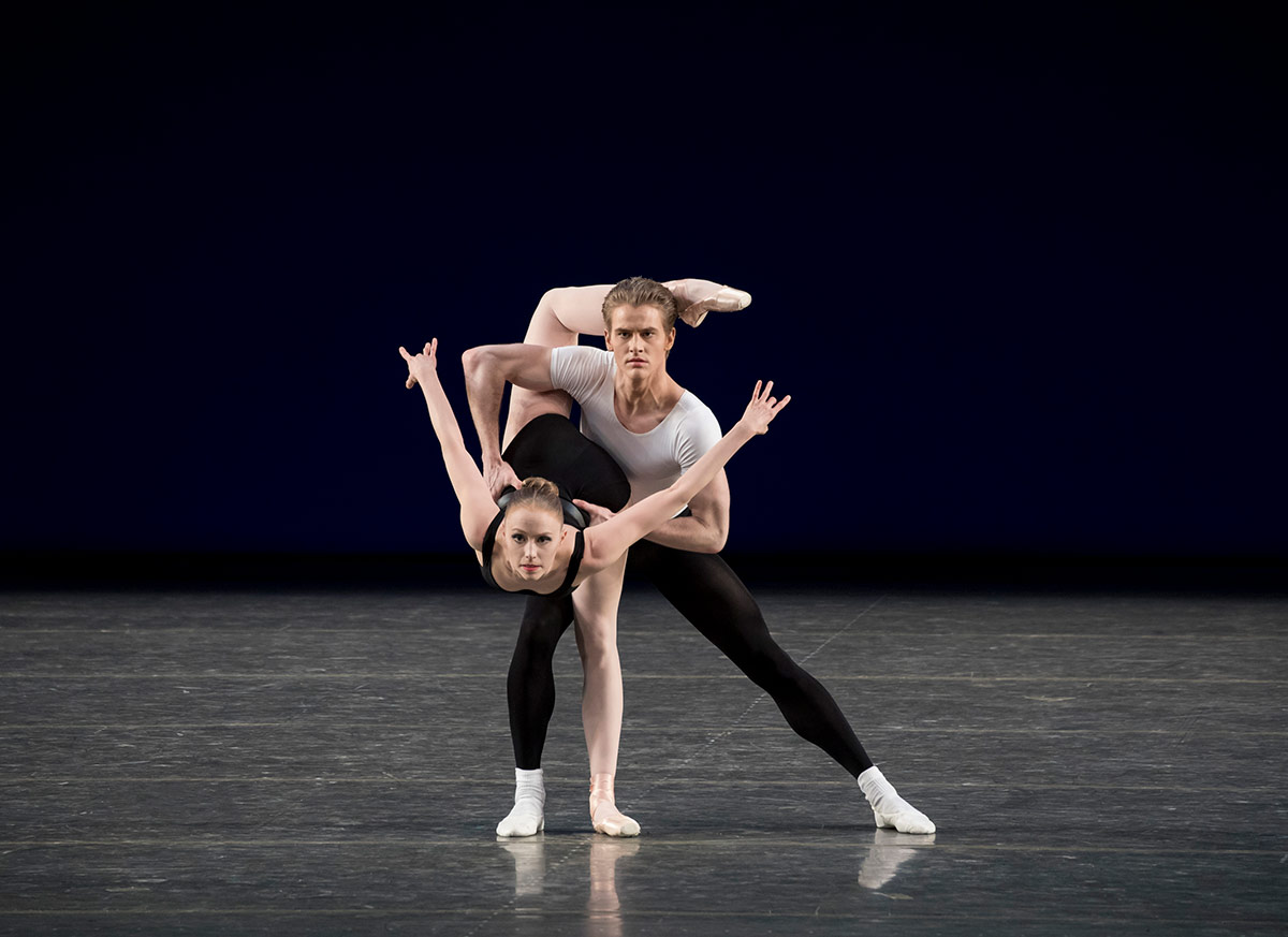 Teresa Reichlen and Chase Finlay in Agon.© Paul Kolnik. (Click image for larger version)