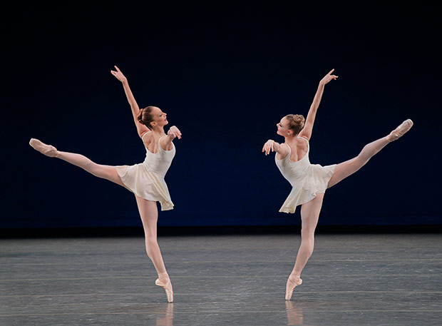 Maria Kowroski and Sara Mearns in Concerto Barocco.© Paul Kolnik. (Click image for larger version)