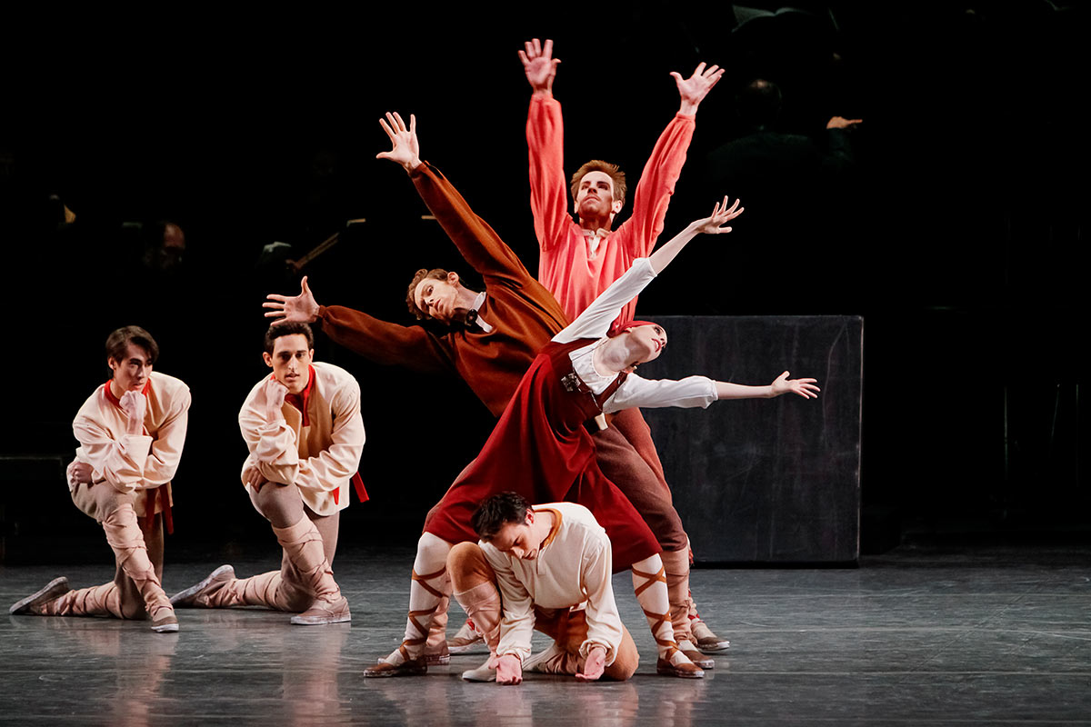 New York City Ballet in Les Noces.© Paul Kolnik. (Click image for larger version)