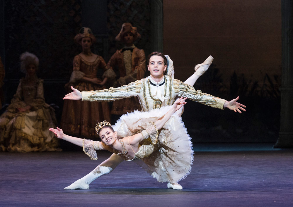 Alina Cojocaru and Joseph Caley in The Sleeping Beauty.© Foteini Christofilopoulou. (Click image for larger version)