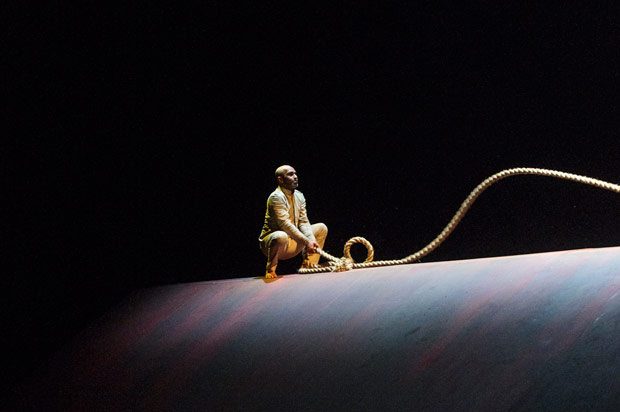 Akram Khan in <i>Xenos</I>.<br />© Foteini Christofilopoulou. (Click image for larger version)