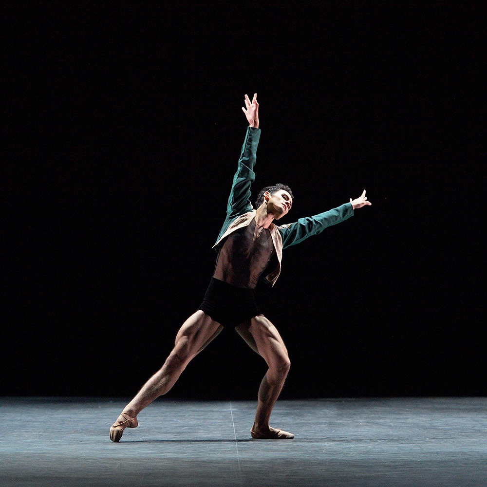Daniel McCormick, Emerging Dancer Competition winner, performing Leatherwing Bat.© Laurent Liotardo. (Click image for larger version)