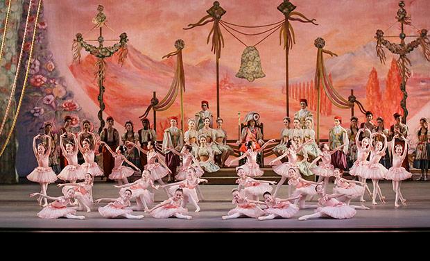 New York City Ballet in <I>Coppélia</I>.<br />© Paul Kolnik. (Click image for larger version)
