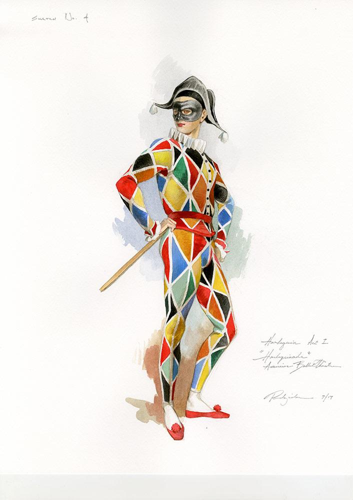 Harlequin act 1 designs by Robert Perdziola.<br />© Robert Perdziola. (Click image for larger-version)