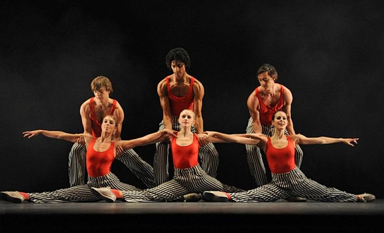 Birmingham Royal Ballet in Twyla Tharp's In the Upper Room.© Roy Smiljanic. (Click image for larger version)