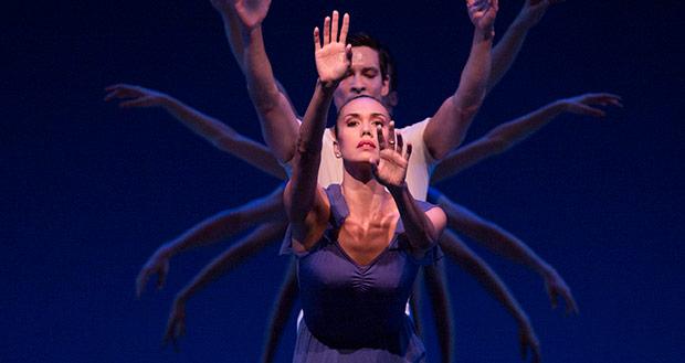 Pacific Northwest Ballet in <I>Opus19/The Dreamer</I>.<br />© Angela Sterling. (Click image for larger version)