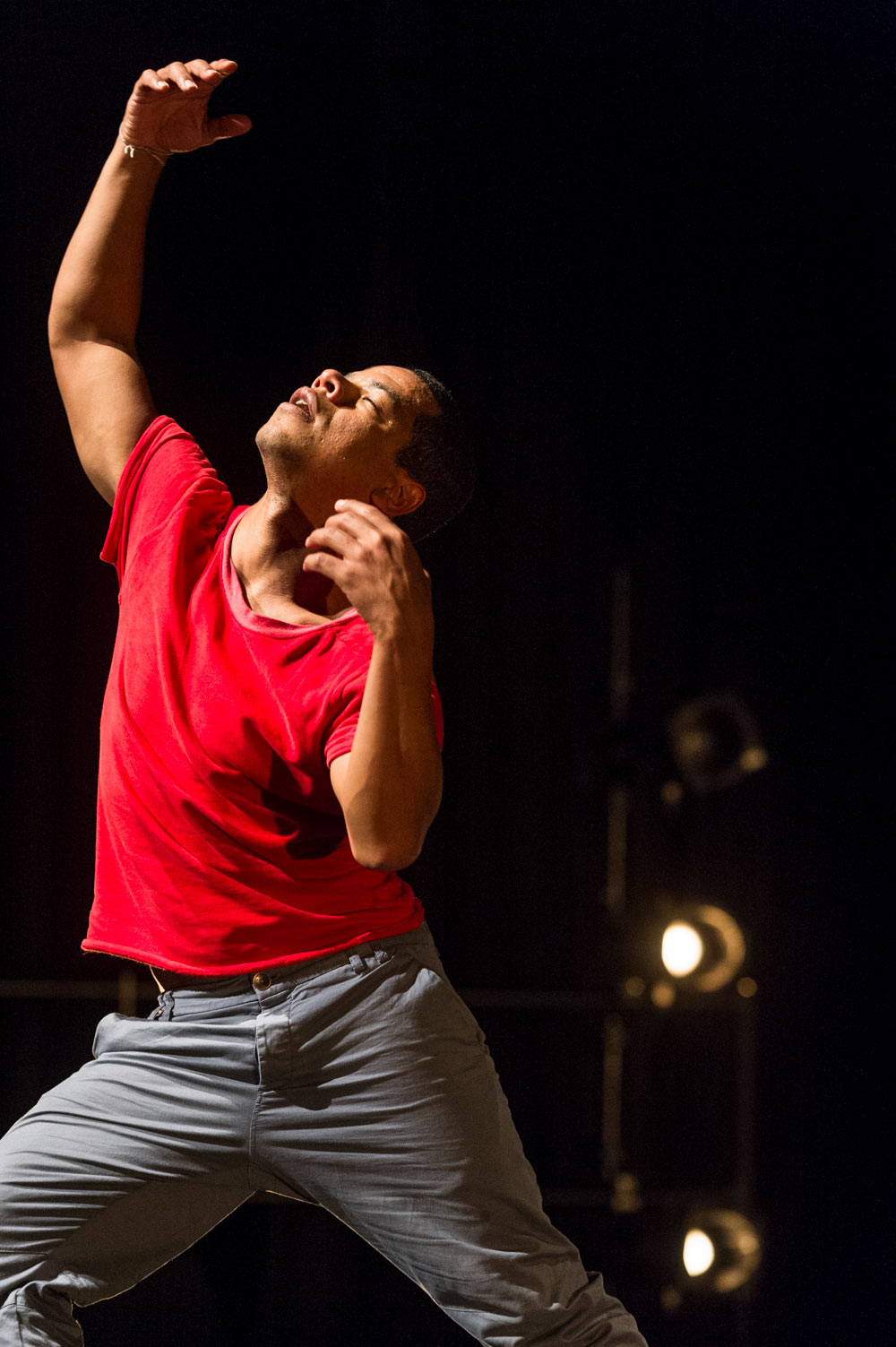 Jean Abreu in Solo for Two (at the Southbank Centre).© Foteini Christofilopoulou. (Click image for larger version)