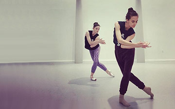Choreographer Lauren Lovette working with Ashley Bouder on Red Spotted Purple.© Gibney/Ashley Bouder - from Instagram original.