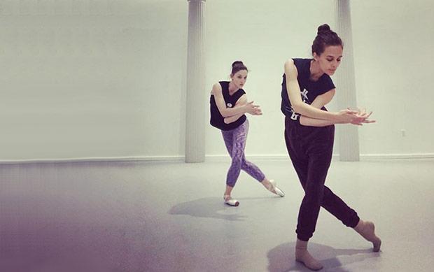 "Choreographer Lauren Lovette working with Ashley Bouder on <I>Red Spotted Purple</I>.<br />© Gibney/Ashley Bouder - from <a href=""https://www.instagram.com/p/Bj5dDaVgPKR/?taken-by=theashleybouderproject"">Instagram original</a>."