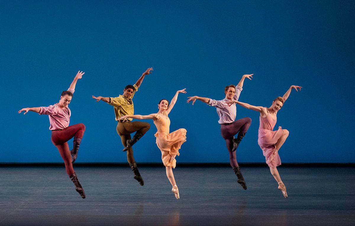 New York City Ballet in <I>Dances at a Gathering</I>.<br />© Paul Kolnik. (Click image for larger version)