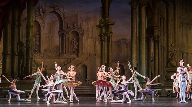 Students of the Upper School in <I>Aurora's Wedding</I>.<br />© Tristram Kenton / Royal Ballet School. (Click image for larger version)