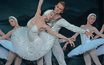 Irina Kolesnikova and Denis Rodkin in Swan Lake.© Dave Morgan. (Click image for larger version)