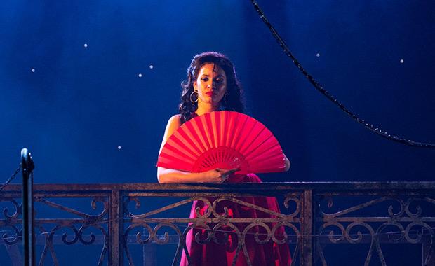 Luna Manzanares Nardo in <I>Carmen La Cubana</I>.<br />© Foteini Christofilopoulou. (Click image for larger version)
