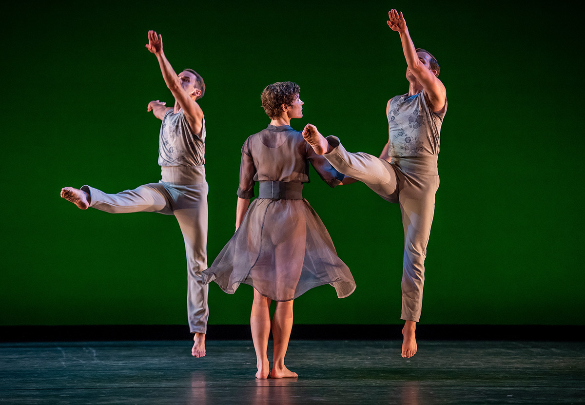 Aaron Loux, Laurel Lynch and Dallas McMurray in The Trout.© Stephanie Berger. (Click image for larger version)