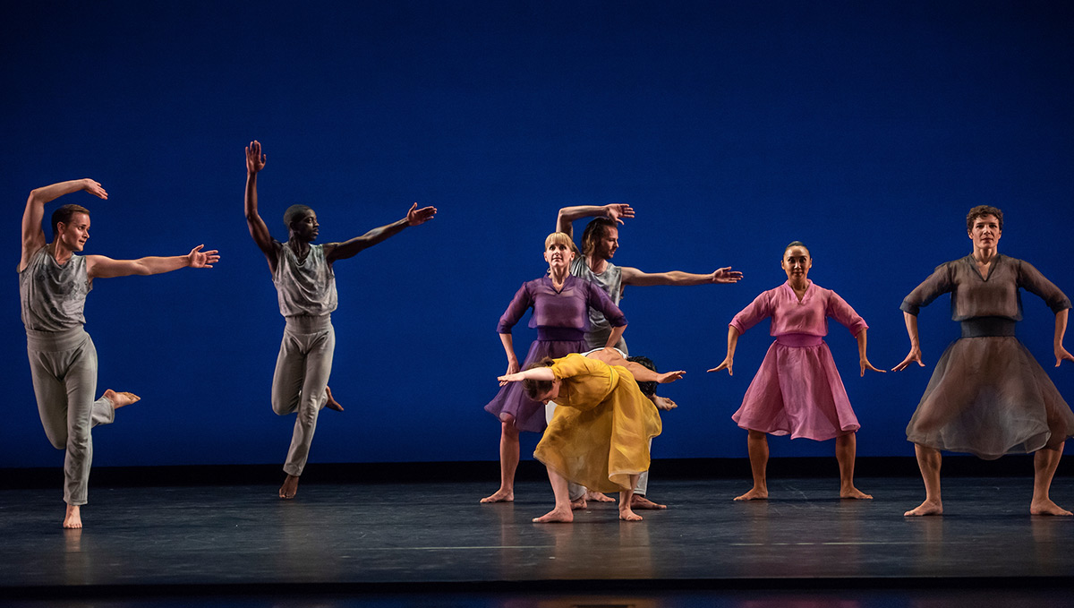 Mark Morris Dance Group in The Trout.© Stephanie Berger. (Click image for larger version)