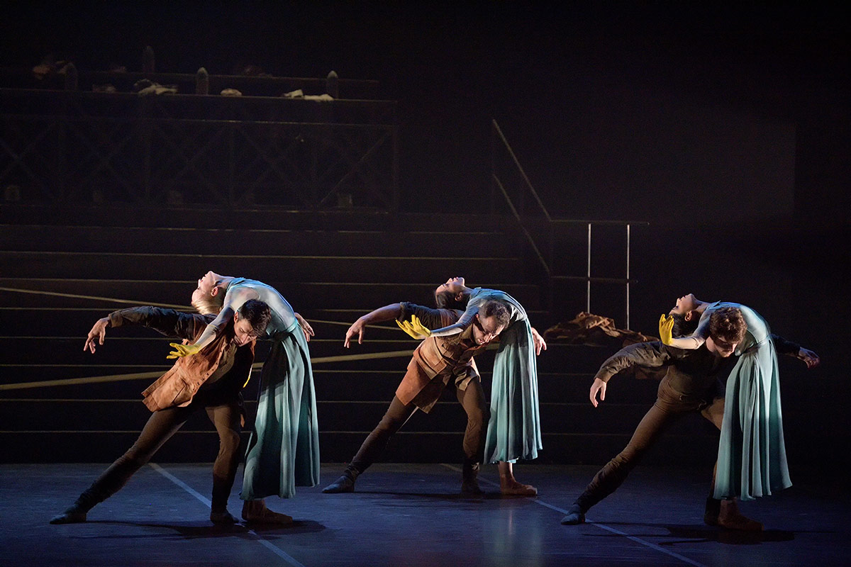 English National Ballet in No Man's Land by Liam Scarlett.© Laurent Liotardo. (Click image for larger version)