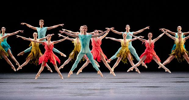 New York City Ballet in Gianna Reisen's <I>Judah</I>, in costumes by Alberta Ferretti.<br />© Paul Kolnik. (Click image for larger version)