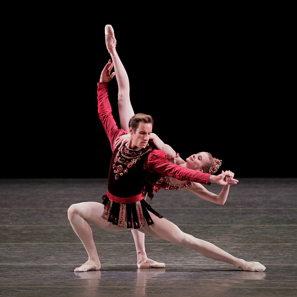 Sterling Hyltin and Andrew Veyette in Rubies from Jewels.© Paul Kolnik. (Click image for larger version)