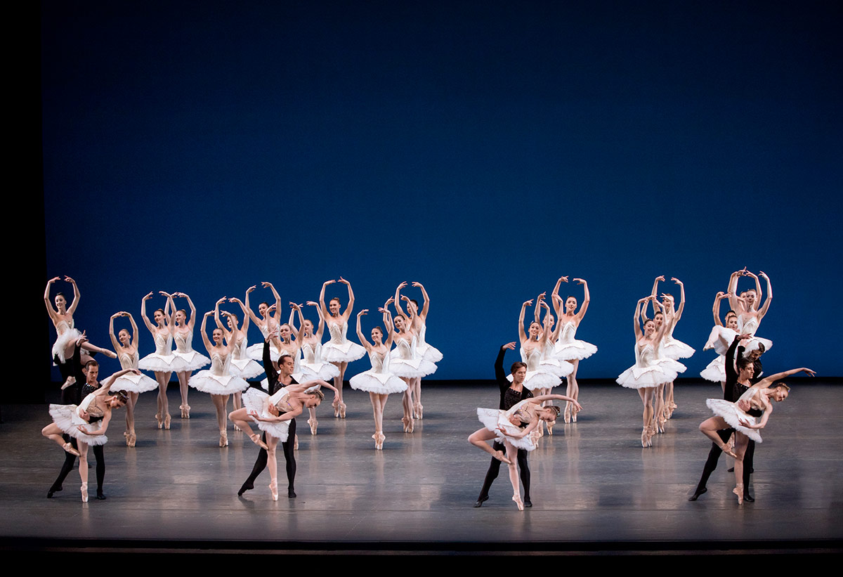 New York City Ballet in Symphony in C.© Paul Kolnik. (Click image for larger version)